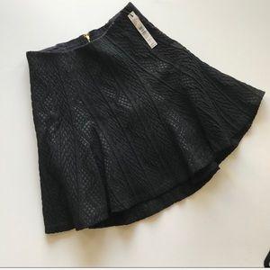 NEW Alice & Olivia Black Mini Skirt